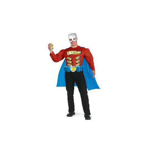 Super 6-Pack Man Adult Halloween Costume Size 42-46 Standard