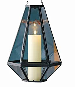 """Tag Pendant Candle Holder Lantern, 16.26"""" Tall x 11.5"""" Wide"""