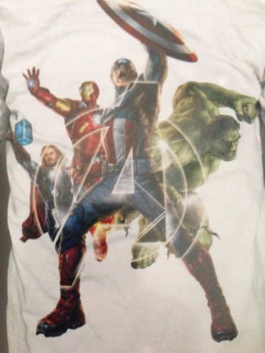Avengers Marvel T- Shirt (White) L - 1