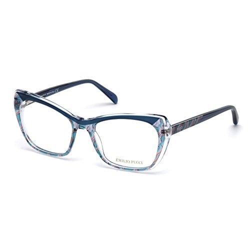 emilio-pucci-ep5052-092-occhiale-da-vista-blu-blue-eyeglasses-sehbrille-new