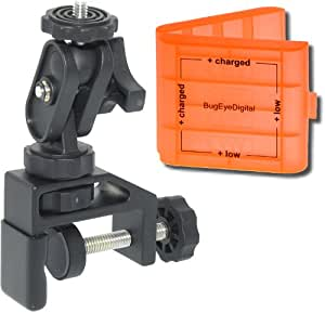 VersatileClamp 1.5 (more versatile than a tripod) for Vivitar Digital Video Recorders (plus one 4 AA / AAA battery case) [#1]