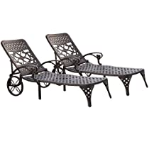 Hot Sale Home Styles Biscayne Chaise Lounge Chair, Black
