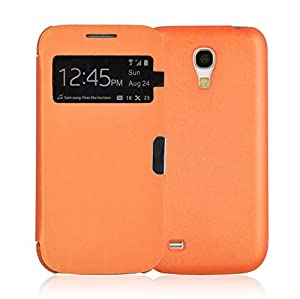 JAMMYLIZARD | Smart View Flip Case Hülle für Samsung Galaxy S4 Mini, ORANGE