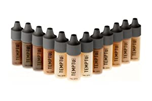 TEMPTU PRO - 12 Color DURA Total Skin Foundation Starter Set in 1/4 Ounce Bottles from Temptu