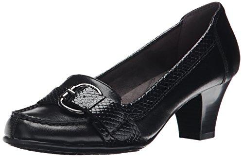 Aerosoles Women's Arivederci Dress Pump,Black Leather,9