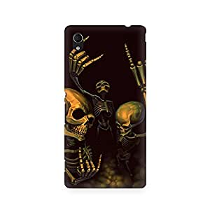 Mobicture Skeleton Love Premium Printed Case For Sony Xperia M4