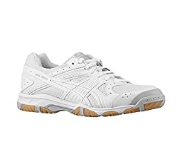 New Asics Women\'s Gel 1150V Volleyball Shoe White/Silver 10.5