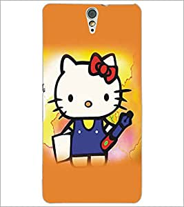 SONY XPERIA C5 KITTY Designer Back Cover Case By PRINTSWAG