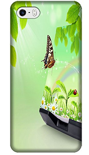Fantastic Faye The Beautiful Phone Cases Design With Colorful Butterfly Flowers Leaves Cute Girls For Cell Phone 4/4S No.2 front-51560