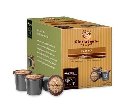Gloria Jean'S Hazelnut Coffee Keurig K-Cup Mini-Brewers, 18 Count