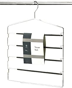 H & L Russel Ltd 4 Bar Trouser Hanger with 4 Non-Slip Easy Access Swing Bars To Hold 4 Pairs Of Trousers, Adult Size