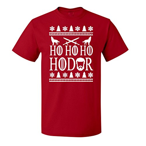 Adult Ho Ho Hodor Ugly Christmas Short Sleeve Tshirt