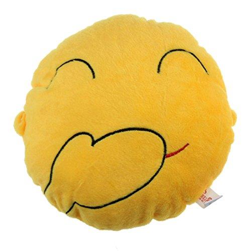 Amonfineshop niedlich Emoji Smiley-Kissen-Kissen-Spielzeug-Geschenk Autotechnik Sitz Kopf-Hals- (Giggle)