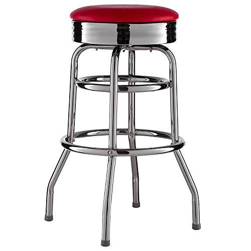 Barhocker-American-Diner-Retro-US-Style-50er-ROT