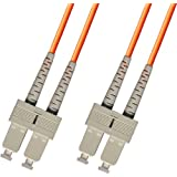 1M Multimode Duplex Fiber Optic Cable (62.5/125) - SC to SC