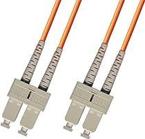 1M Multimode Duplex Fiber Optic Cable (62.5/125) - SC to SC