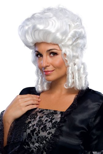 Colonial Lady Deluxe White Wig