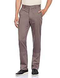 Monte Carlo Men's Formal Trousers (216055481Cf_30W x 35L_Dark Grey)