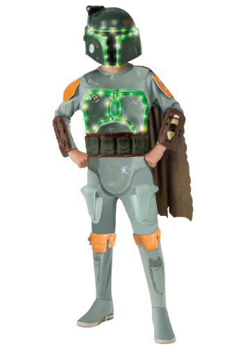 Boba Fett Light-Up Deluxe Kids Costume