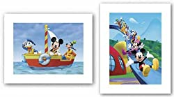 "Mickey Mouse Clubhouse Set by Walt Disney 11""x8"" Art Print Poster Disney"