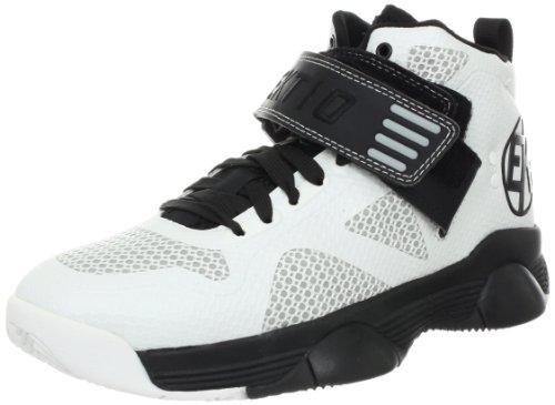 Ektio Men's Breakaway Basketball Shoe,White/Black,10 M US