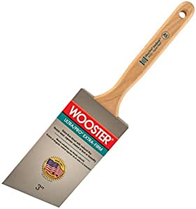Wooster Brush 4153-3 Ultra/Pro Extra-Firm Lindbeck Angle Sash Paintbrush, 3-Inch