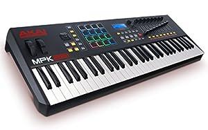 Piano Akai Professional MPK261 de 61 teclas USB MIDI con pad de tambóres y control de desempeño