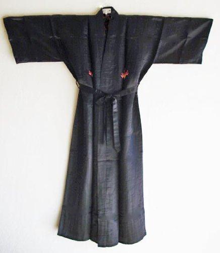 Embroidered Dragon Silk Kimono Robe #K268BD