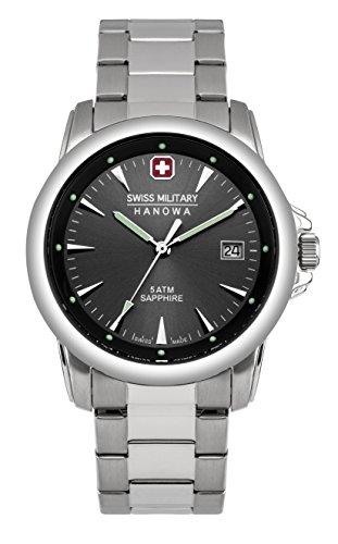 Swiss Military Swiss Recruit Prime confezione regalo orologio al quarzo da uomo con display analogico e acciaio inox argento cinturino 6-8010, 04,007