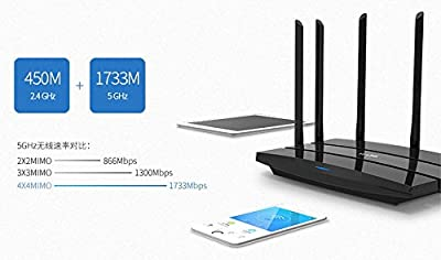 TP-LINK wireless router WiFi TL-WDR 8500 2200M 11AC 7 antenna 2.4GHz 450Mbps+5Ghz 1733Mbps