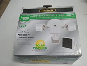 Defiant 500 Lumen Twin Solar Outdoor Motion White Led