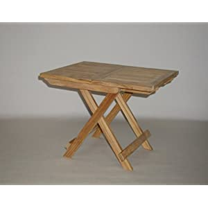 Folding Teak End Side Table
