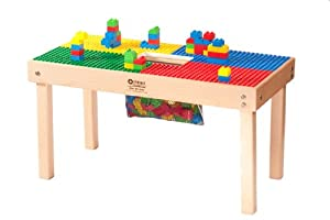 "Lego Duplo Compatible Heavy Duty Wood Table-32""X16""-MADE IN THE USA!!-Preassembled-Solid Hardwood Legs and Frame-BUILT TO LAST!! from Playcenter Authority"
