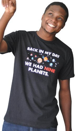 Snorgtees Men'S Back In My Day We Had Nine Planets-Large-Black T-Shirt