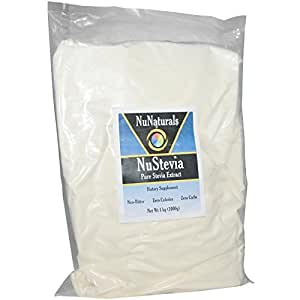 NuNaturals NuStevia White Stevia Extract -- 2.2 lbs