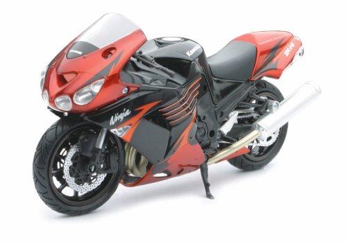 NewRay 1/12 Die-Cast Motorcycle: Kawasaki 2009 ZX-14 (Red)