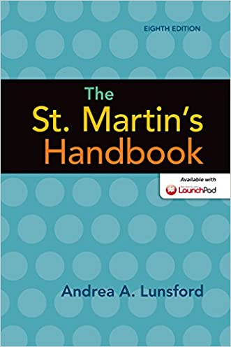The St. Martin's Handbook written by Andrea A. Lunsford