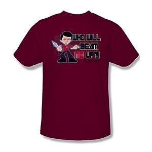 Star Trek Quogs Cartoon CBS TV Series Scotty's Dilemma Adult Mens T-Shirt Tee