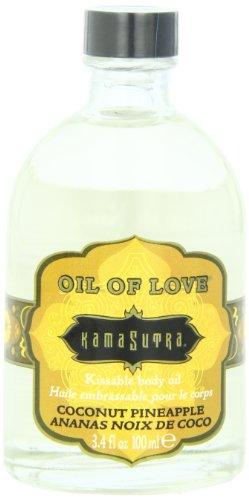 Kama Sutra Company Oil Of Love Body Oil, Coconut Pineapple, 3.4 Ounce