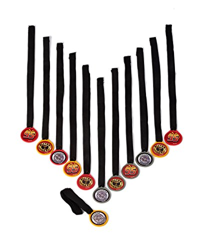 Cars Party Accessories, Award Medals, 12 Count, Party Supplies