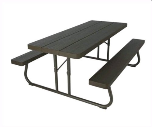 Why Should You Buy Lifetime 60112 Commercial Grade 6' Picnic Table ~ Faux Wood Color Seats 8