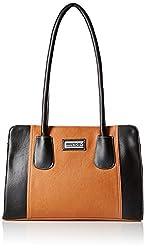Fantosy Women's Handbag (Tan and Black) (FNB-326)