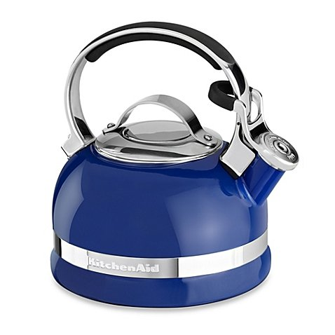 KitchenAid 2-Quart Porcelain Enamel Tea Kettle with Stainless Steel Handle in Cameo Blue (Vitara Tea Kettle compare prices)