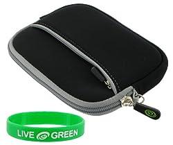 Neoprene Sleeve Case (Black) Seagate FreeAgent Go 1 TB USB 2.0 Portable External Hard Drive ST910004FAA2E1-RK