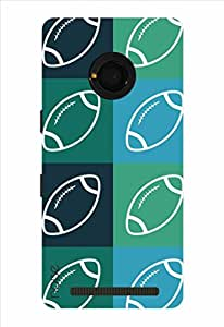 Noise Rugby Minimal Printed Cover for Micromax Yu Yunique
