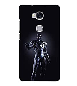 printtech Iron Skull Guy Super Back Case Cover for Hwawei Honor 5X