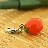 ベジタブル 食品サンプル ミニチュア マスコット アクセサリー (プチトマト)