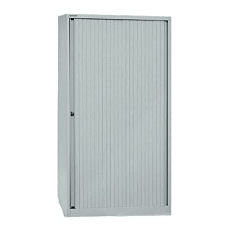 Bisley ET408/17/3S 163 cm Euro Tambour Silver Shutter with 3 Shelves - Silver