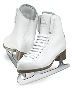 Jackson Glacier Ice Skates - GS521 Girls White Figure Ice Skates by Jackson