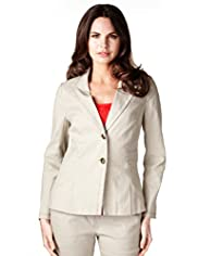 Per Una Lined Blend 2 Button Panelled Jacket